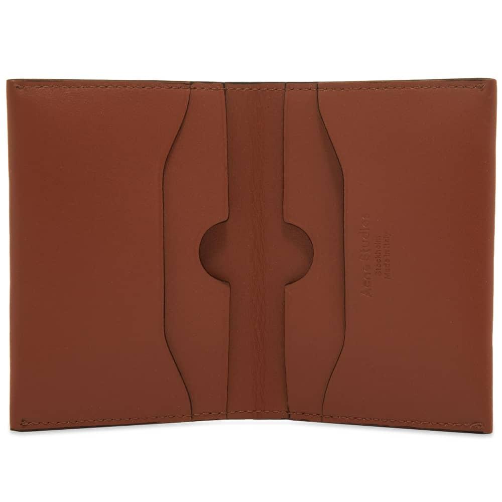 Acne Studios Flap Card Holder - Almond Brown