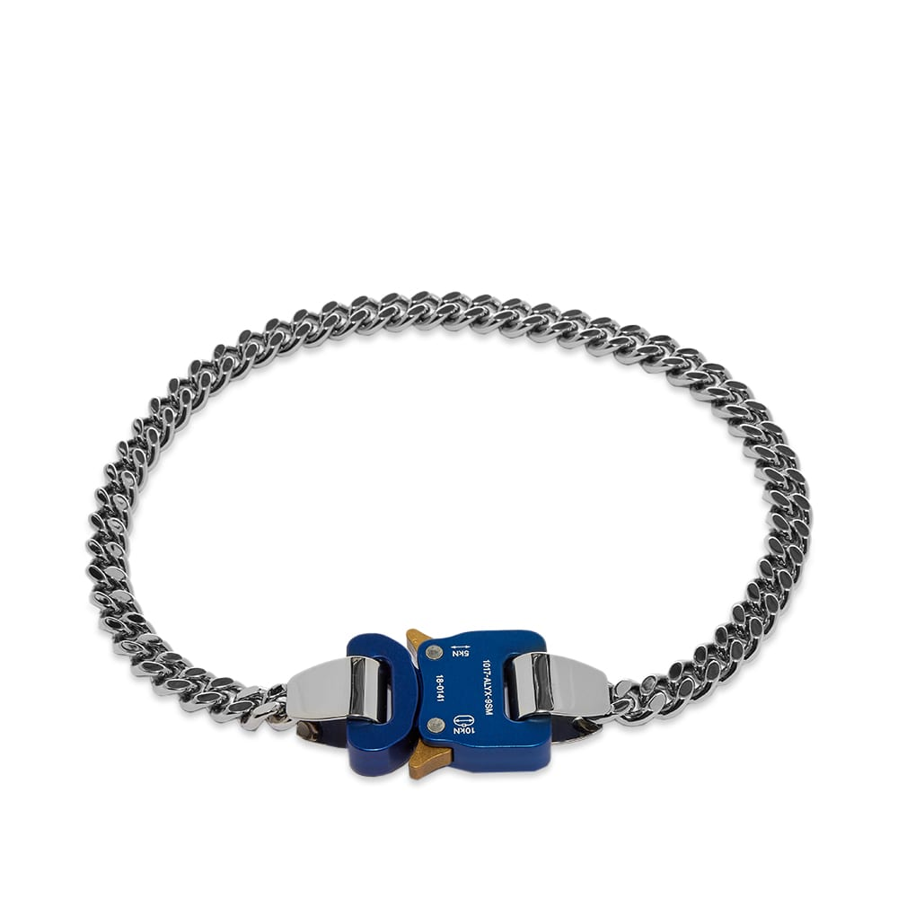 1017 ALYX 9SM Classic Chainlink Necklace - Silver & Blue