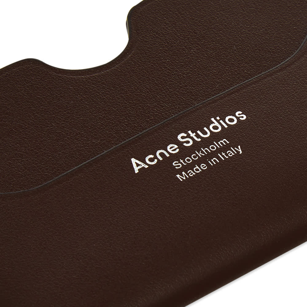 Acne Studios Elmas S Card Holder - Dark Brown