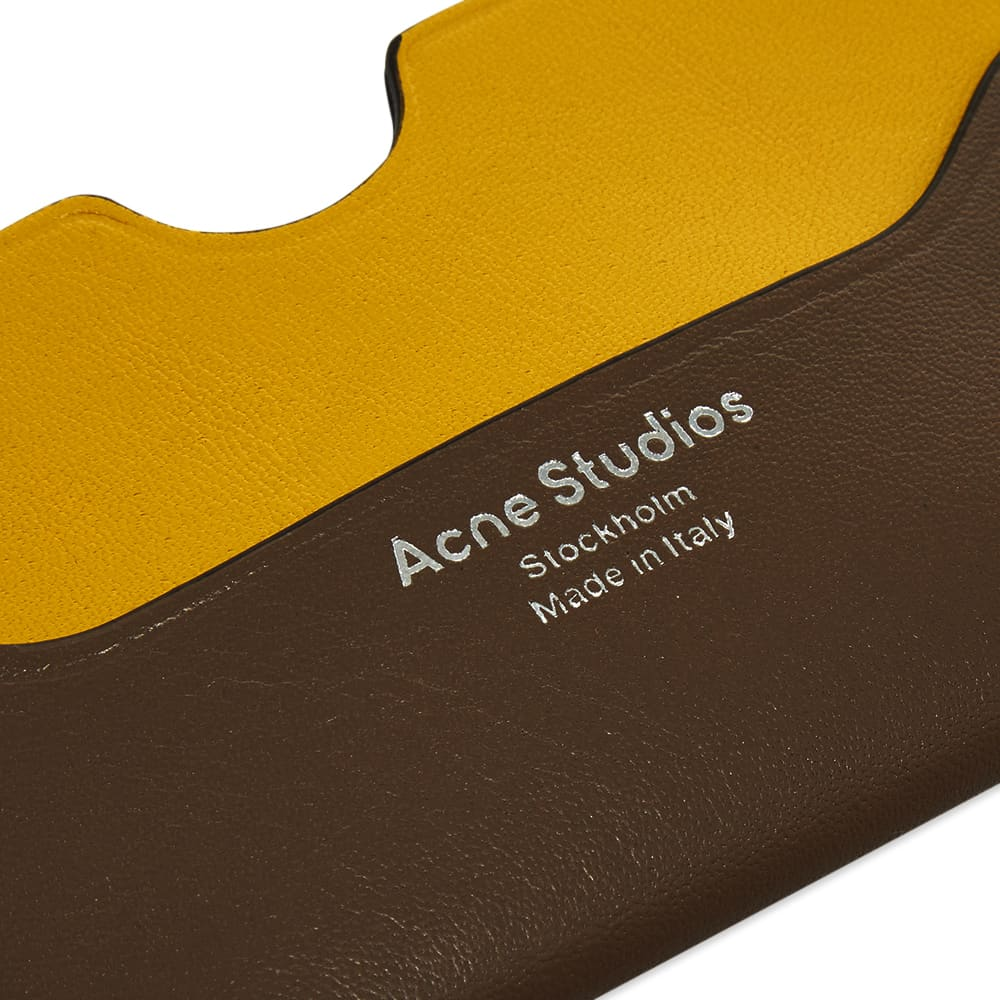 Acne Studios Elmas Colour Card Holder - Multi Grey