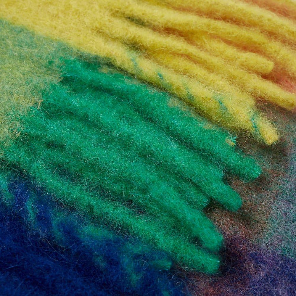 Acne Studios Vally Check Scarf - Blue, Orange & Green