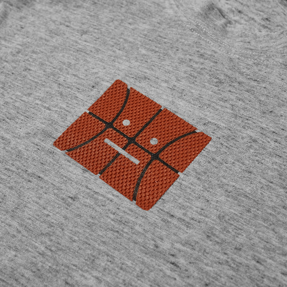 Acne Studios Exford Oversize Basketball Face Tee - Marble Grey Melange