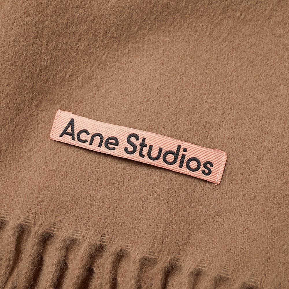 Acne Studios Canada New Scarf - Caramel Brown