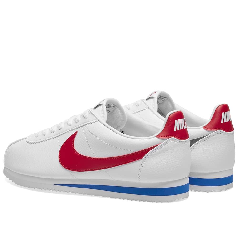 Nike Classic Cortez Leather - White & Varsity Red
