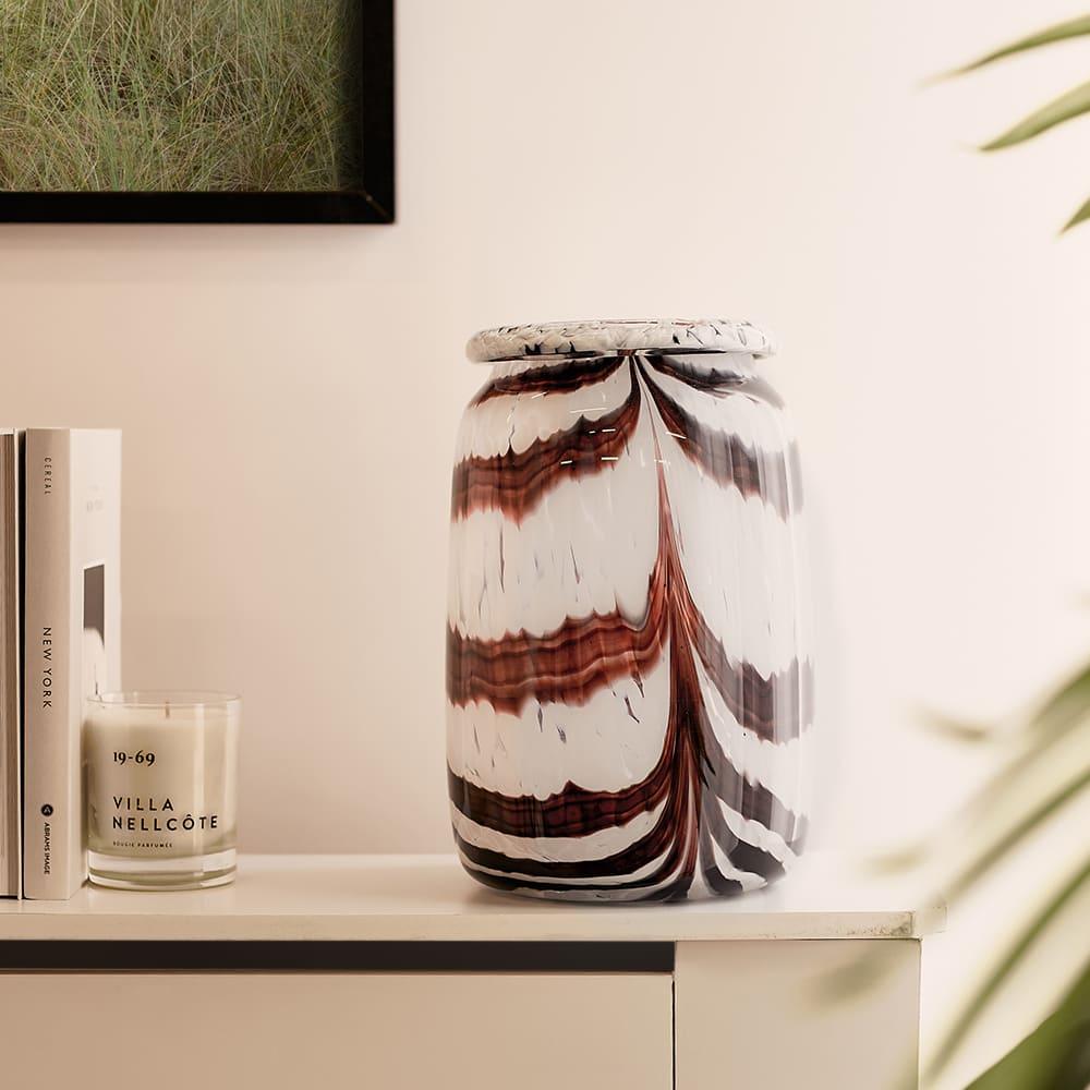 HAY Splash Vase - Large - Coffee & White