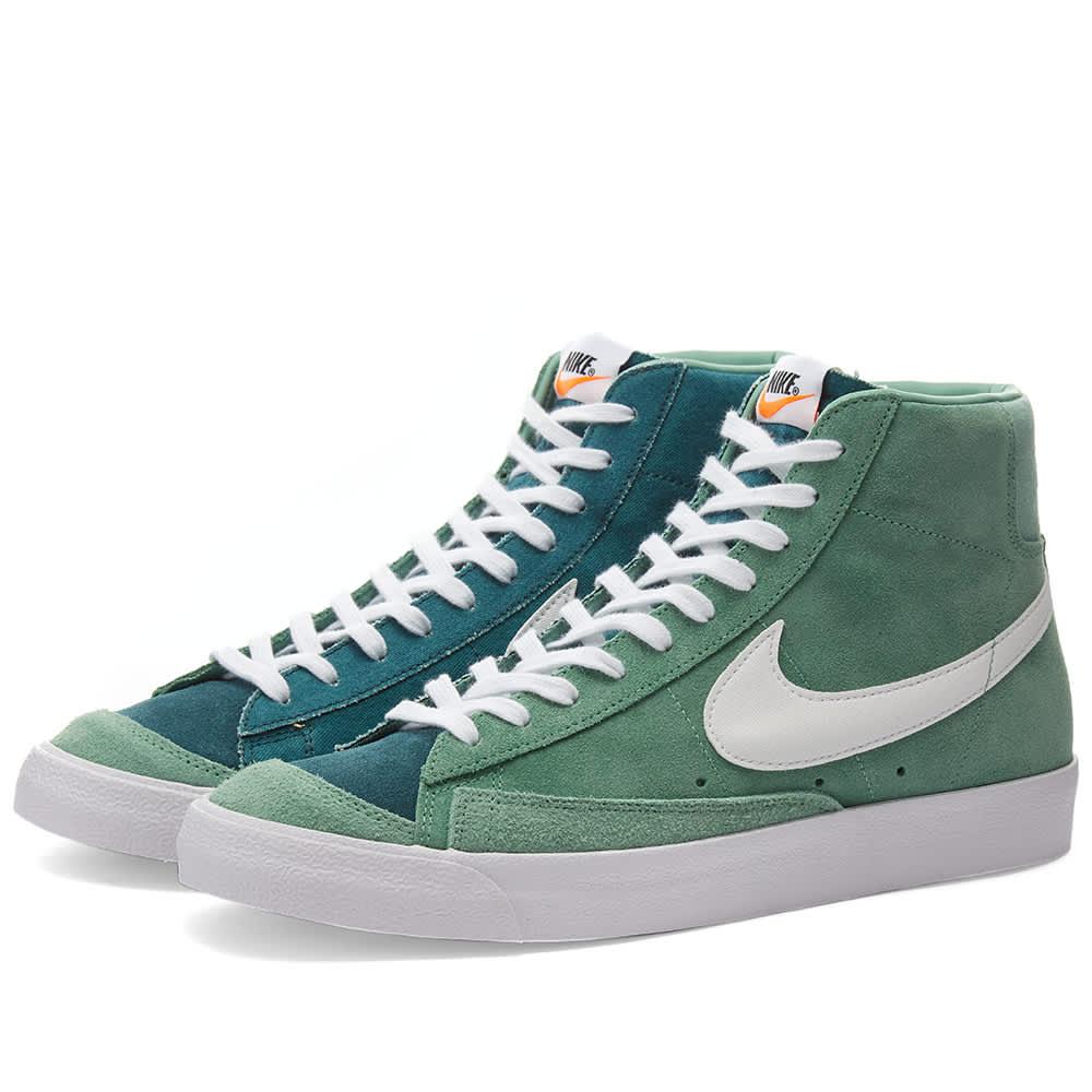 Nike Blazer Mid 77 VNTG Suede Mix - Jade, White & Orange