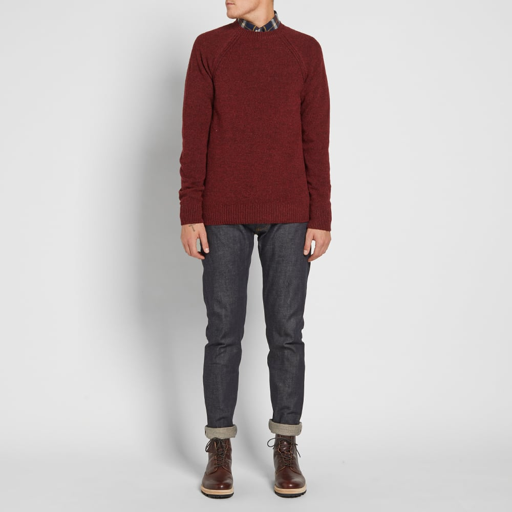 Barbour Rydal Crew Knit - Rich Red