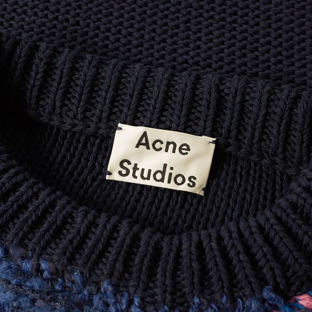 Acne Studios Irregular Stripe Knit Sweat - Navy & Purple