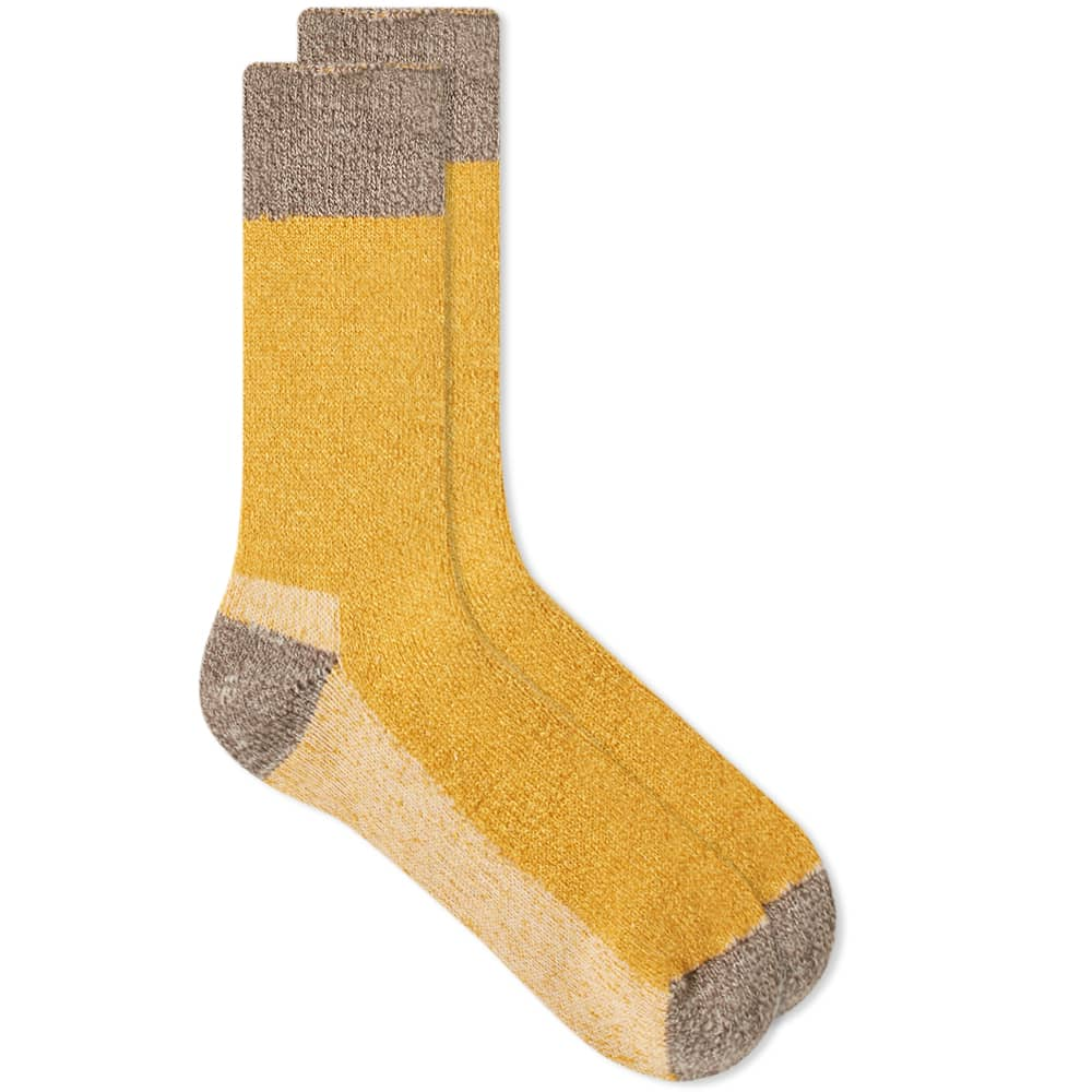 Anonymous Ism OD Pile Crew Sock - Mustard