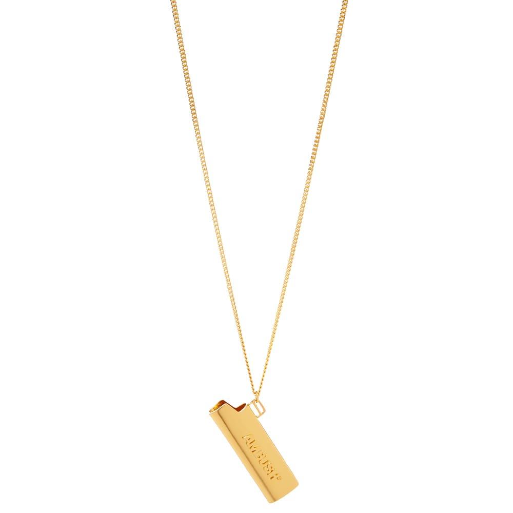 Ambush Logo Lighter Neck Chain - Gold  Gold