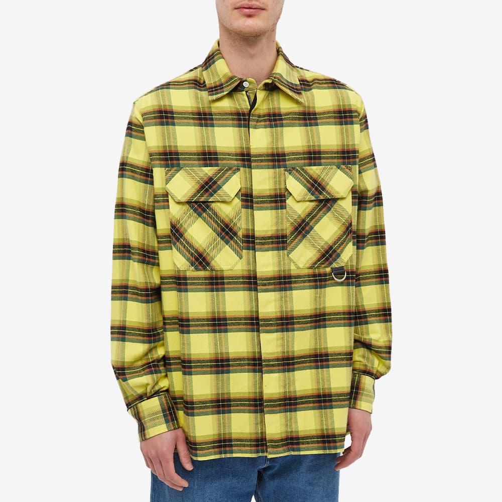 Loewe Check Flannel Zip Overshirt - Yellow & Black