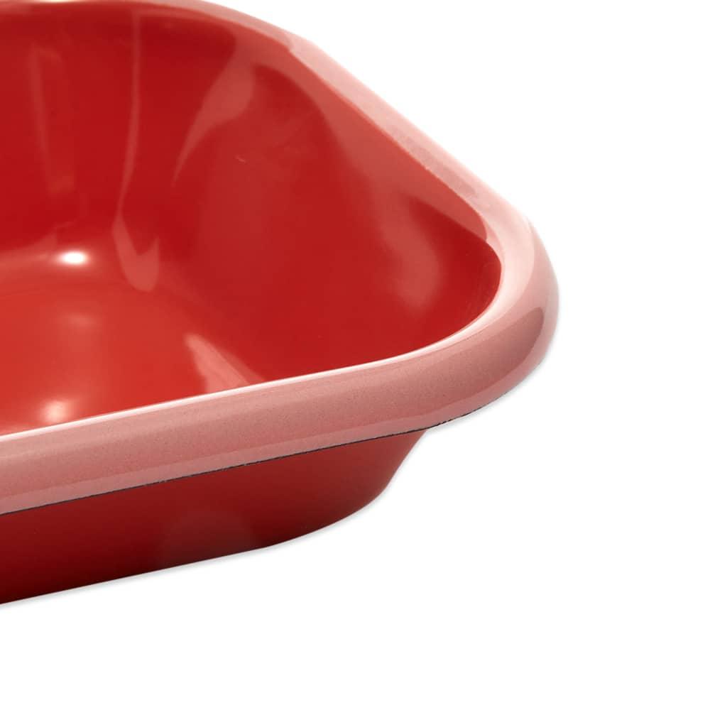 BORNN  Enamelware Colorama Small Baking Dish - Coral & Pink