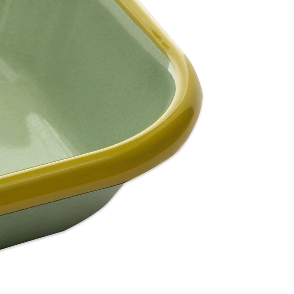 BORNN  Enamelware Colorama Small Baking Dish - Mint & Chartreuse