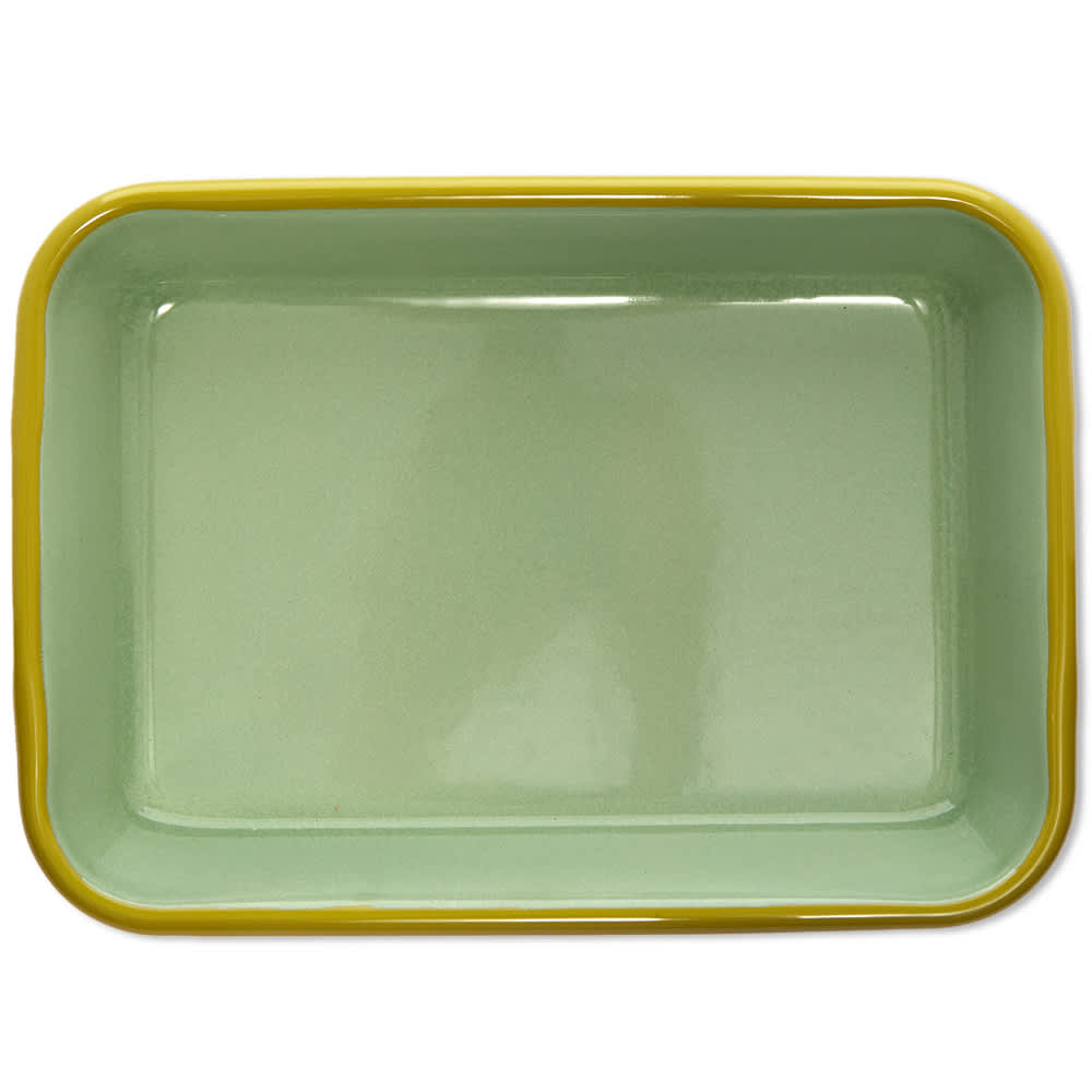 BORNN  Enamelware Colorama Large Baking Dish - Mint & Chartreuse