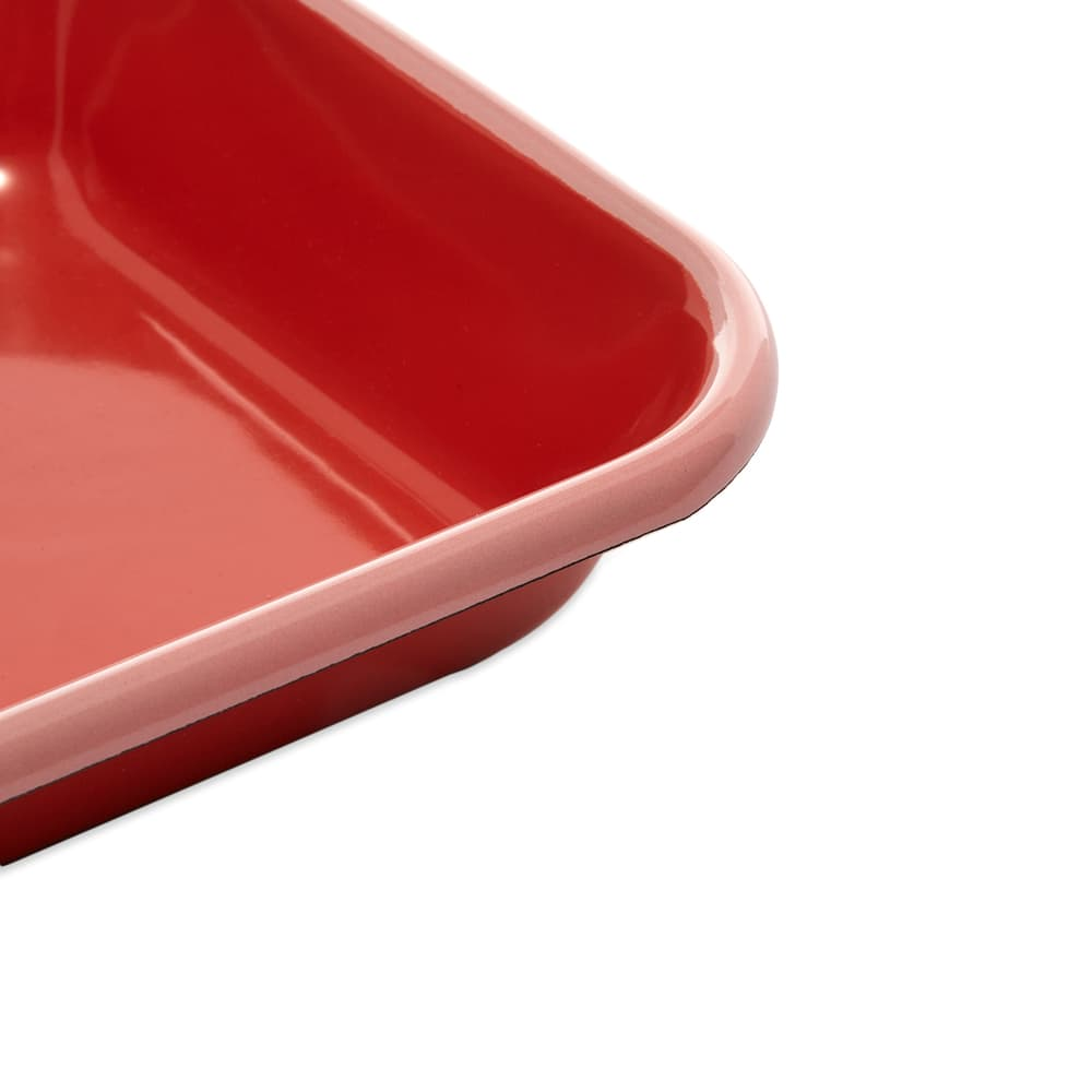 BORNN  Enamelware Colorama Medium Baking Dish - Coral & Pink