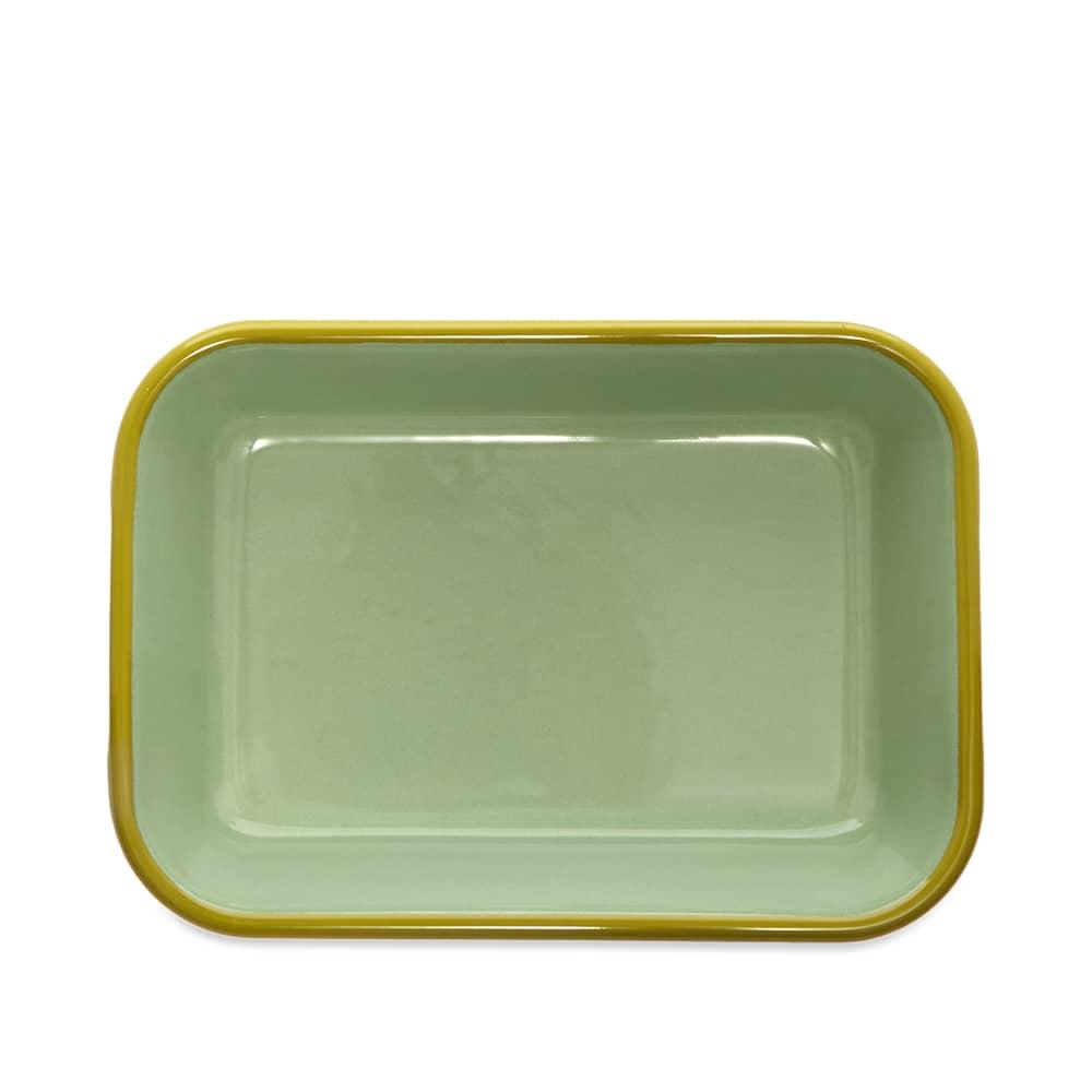 BORNN  Enamelware Colorama Medium Baking Dish - Mint & Chartreuse