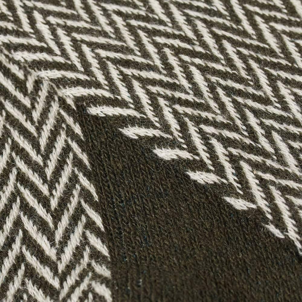 Anonymous Ism Wool Herringbone Crew Sock - Khaki