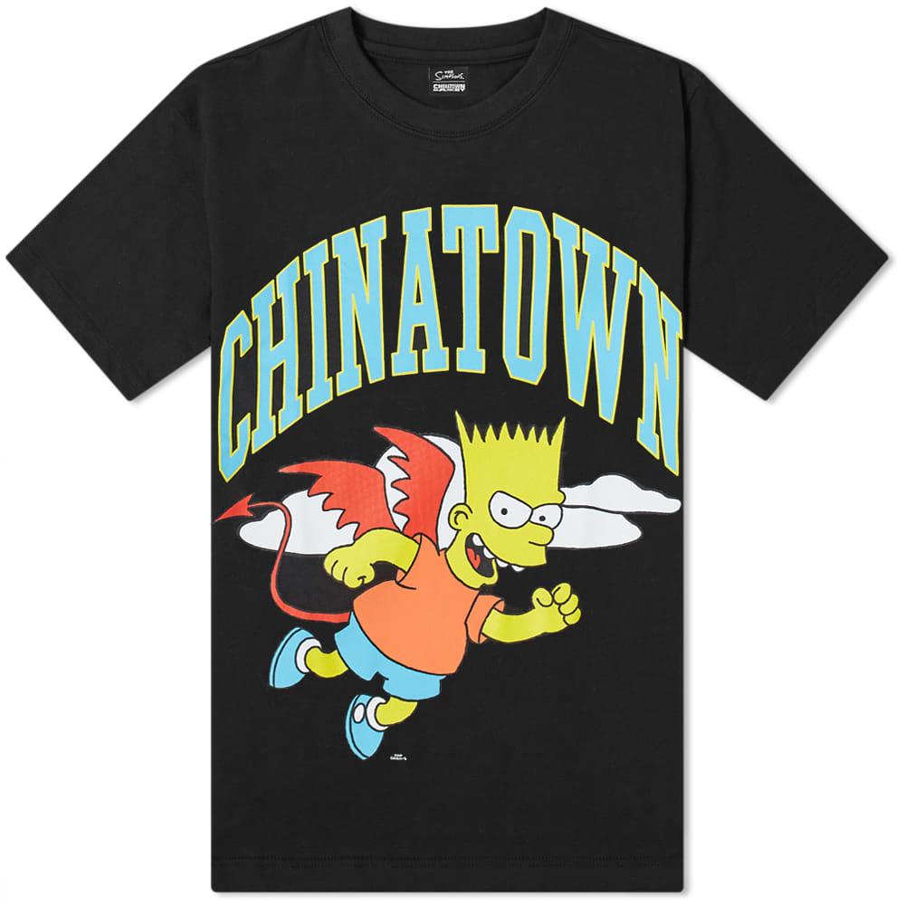 Chinatown Market x The Simpsons Devil Arc Tee - Black