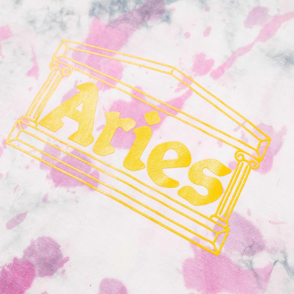 Aries Tie Dye Temple Tee - Purple