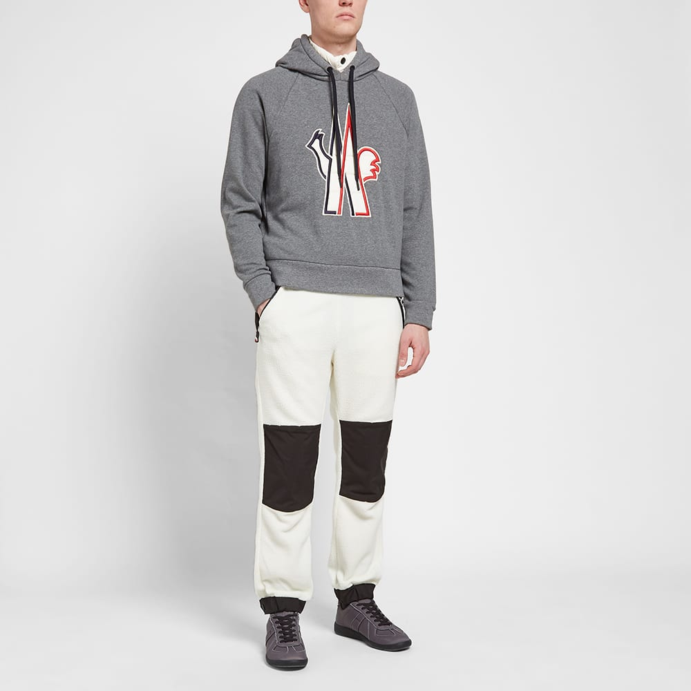 Moncler Grenoble Large Embroidered Logo Hoody - Grey