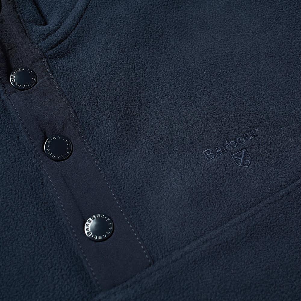 Barbour Essential Fleece Half Snap - Navy
