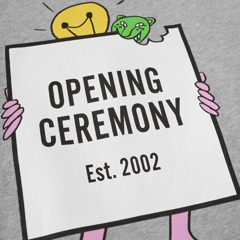 Opening Ceremony Light Bulb Box Logo Popover Hoody - Grey Melange