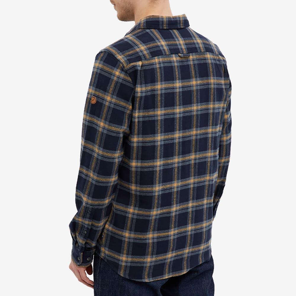 Fjällräven Övik Heavy Flannel Shirt - Dark Navy & Buckwheat Brown