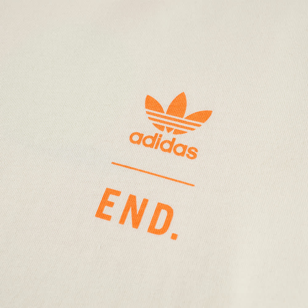 END. x Adidas Tennis Club Tee - Chalk White & Amber Tint