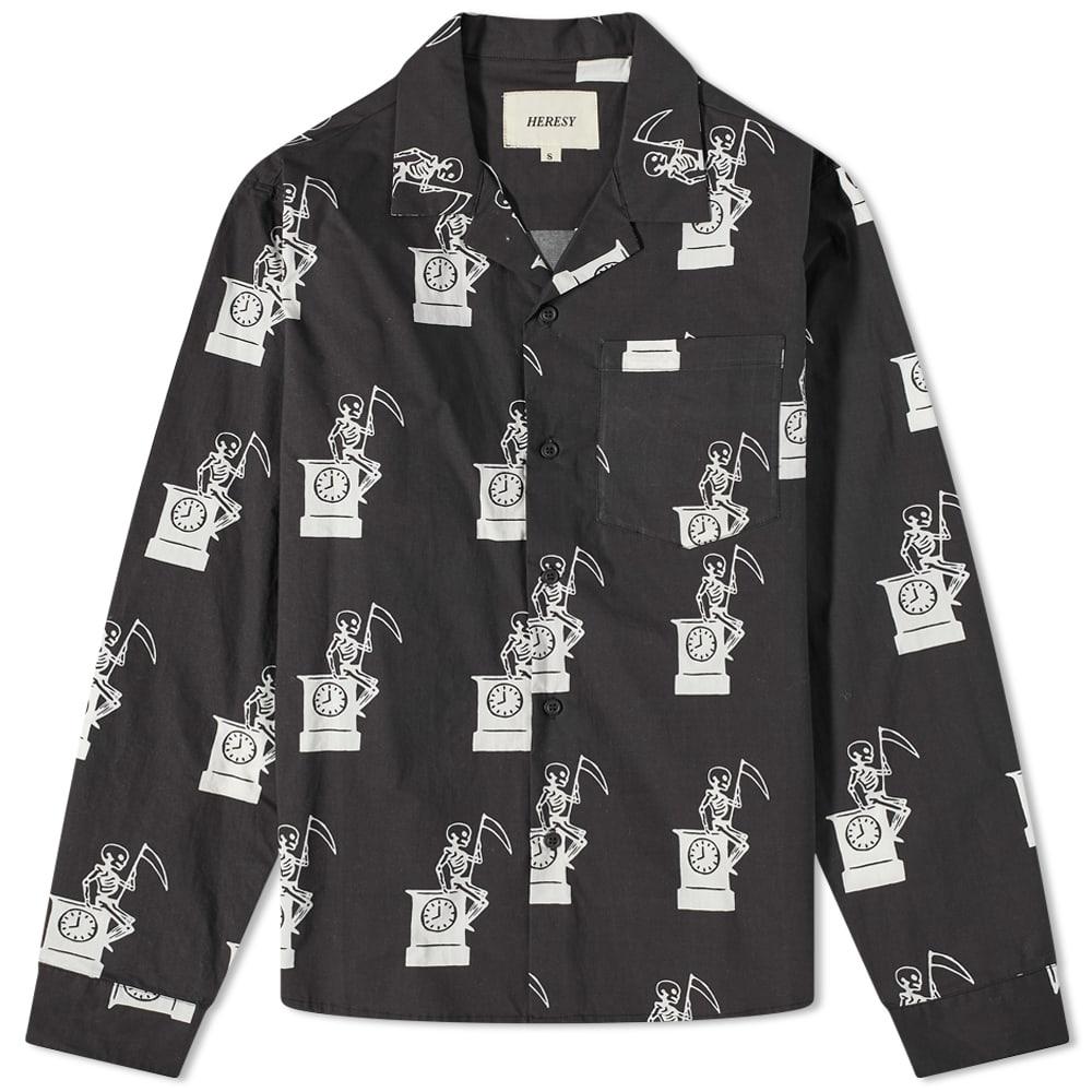 Heresy Mort Button Down Shirt - Navy