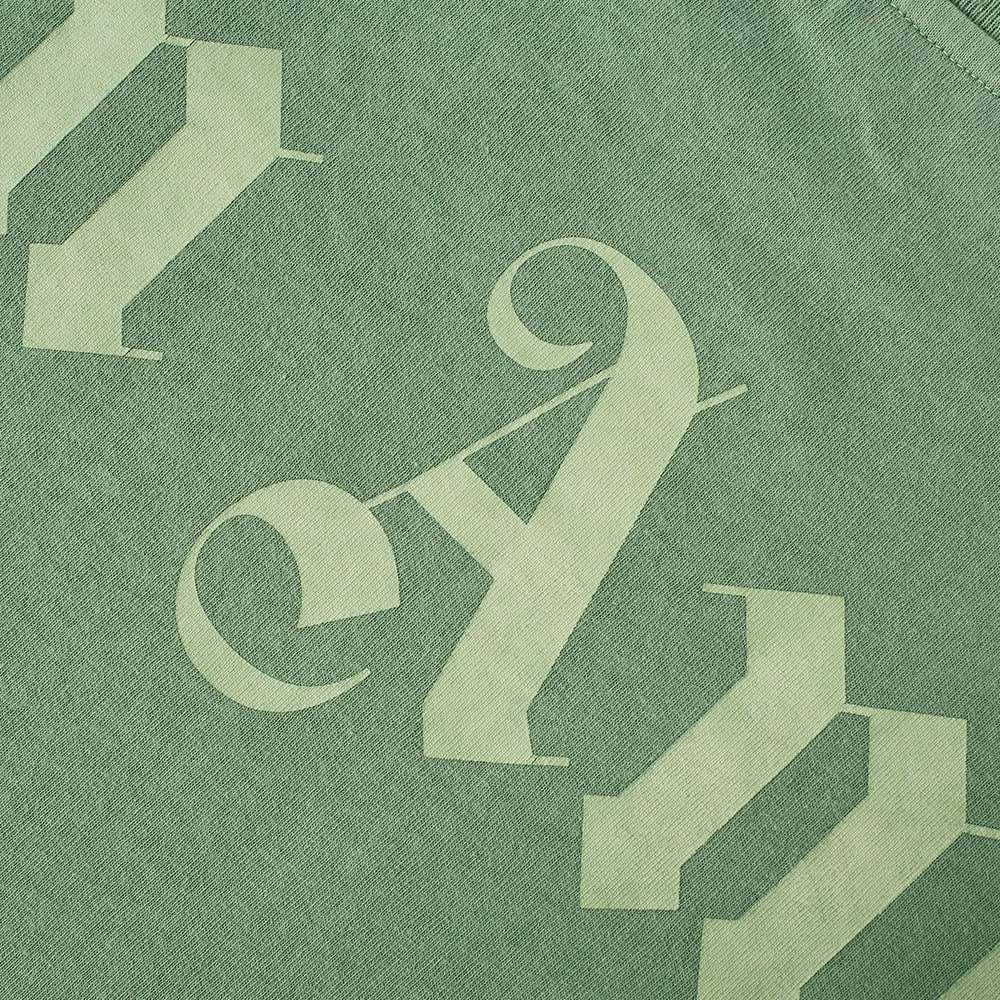 Palm Angels Long Sleeve Garment Dyed Logo Tee - Forest & Green