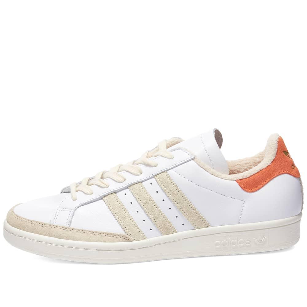 END. x Adidas Tennis Club National Tennis OG - White & Amber Tint