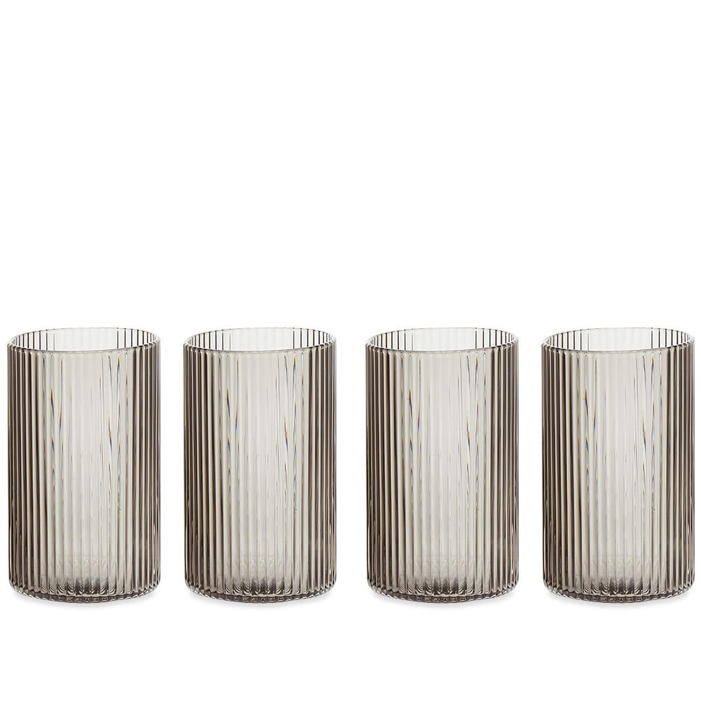 Ferm Living Ripple Verrines - Set of 4 - Smoked Grey