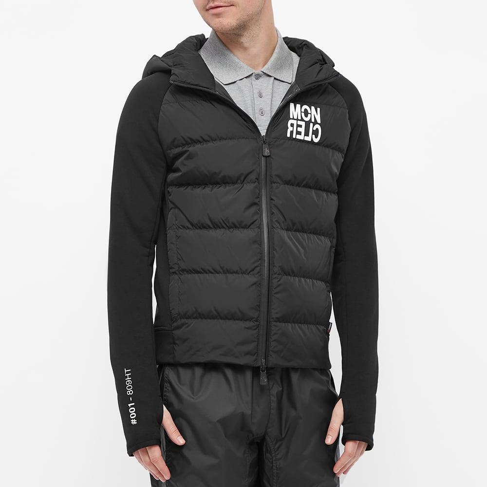 Moncler Grenoble Knitted Down Jacket - Black