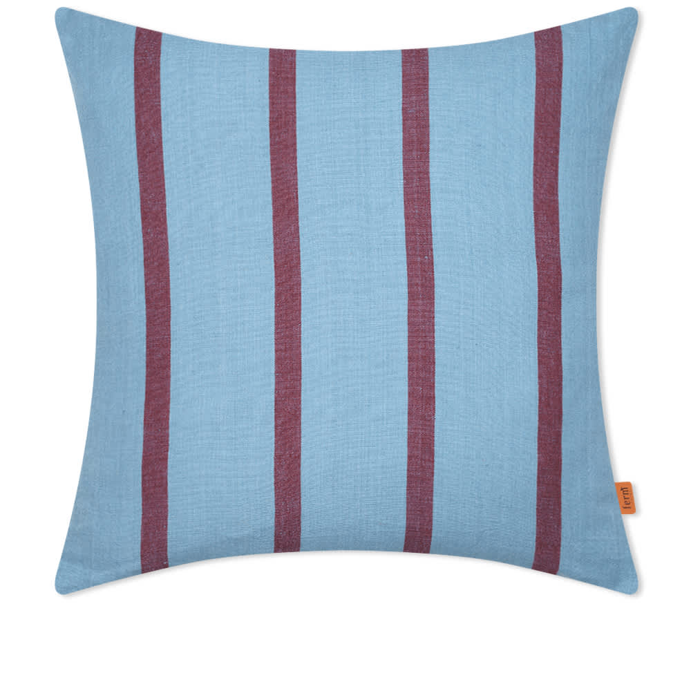 Ferm Living Grand Cushion - Faded Blue & Burgundy