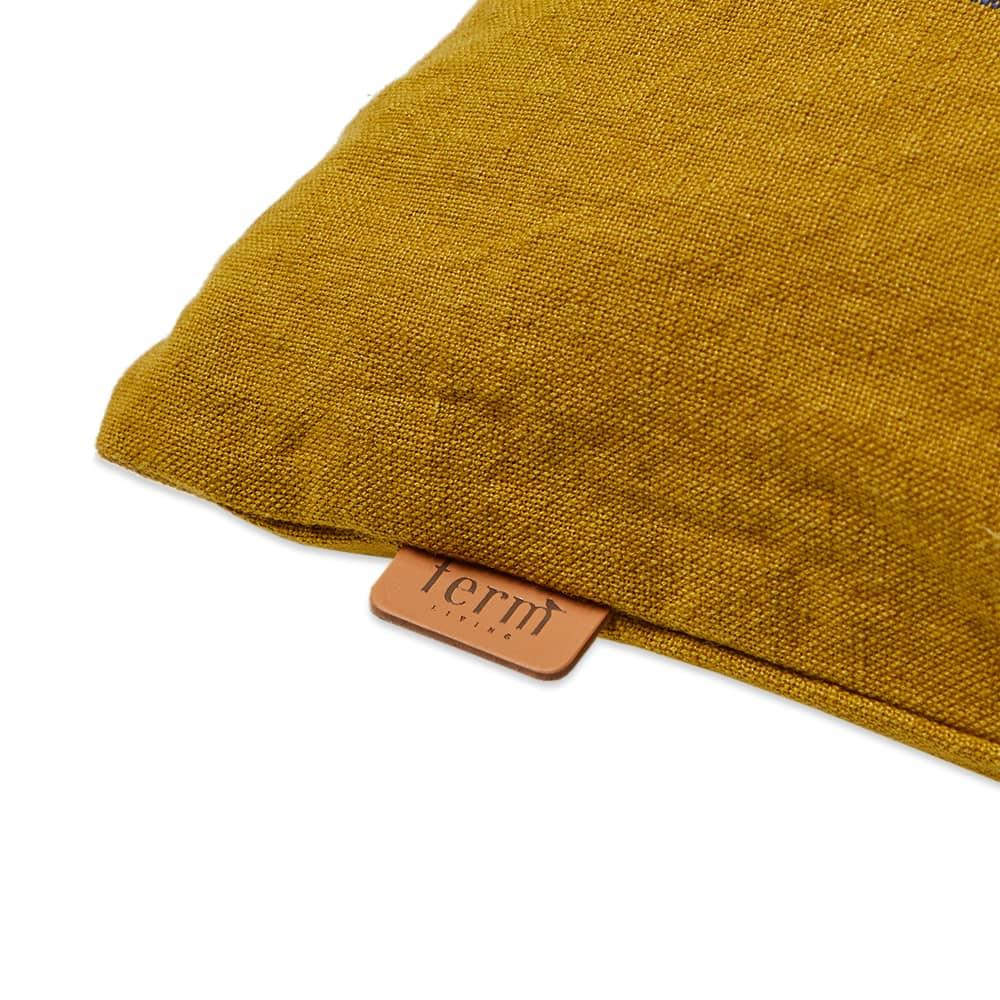 Ferm Living Grand Cushion - Lime, Chocolate & Bright Blue