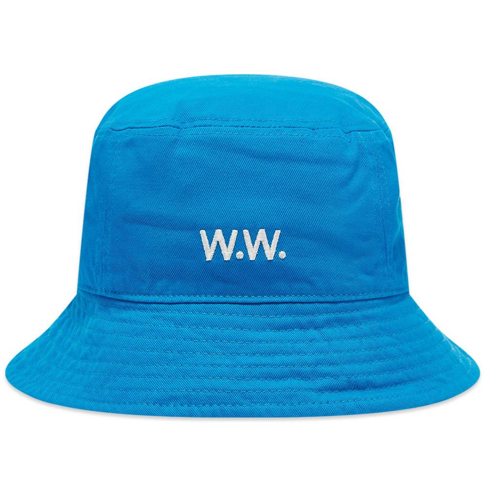 Wood Wood Twill Bucket Hat - Azure Blue