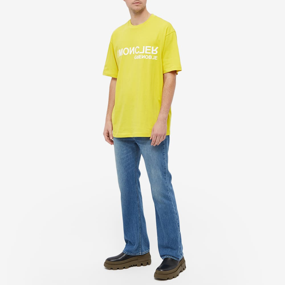 Moncler Grenoble Logo Tee - Yellow
