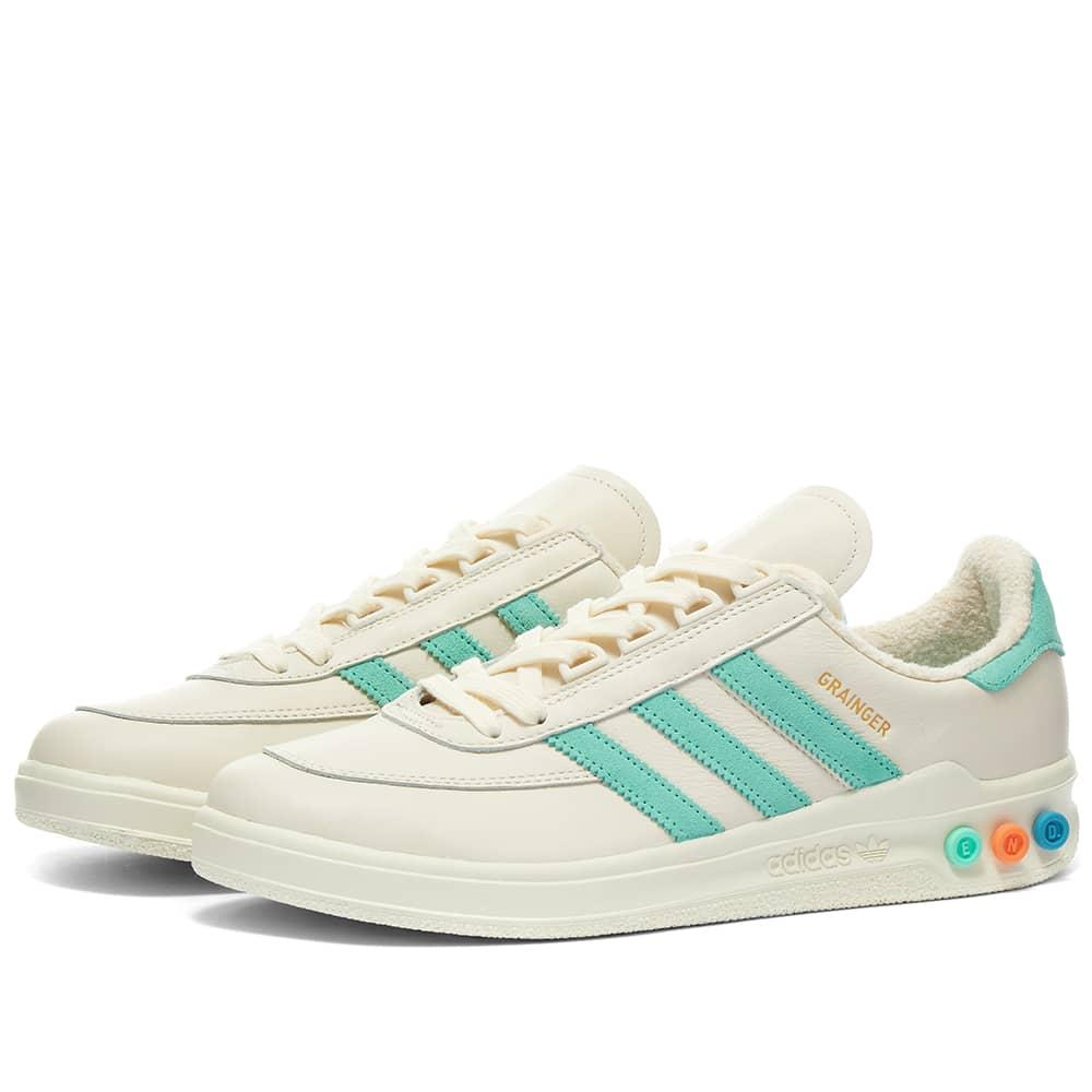 END. x Adidas Tennis Club Grainger - White & Bahia Mint