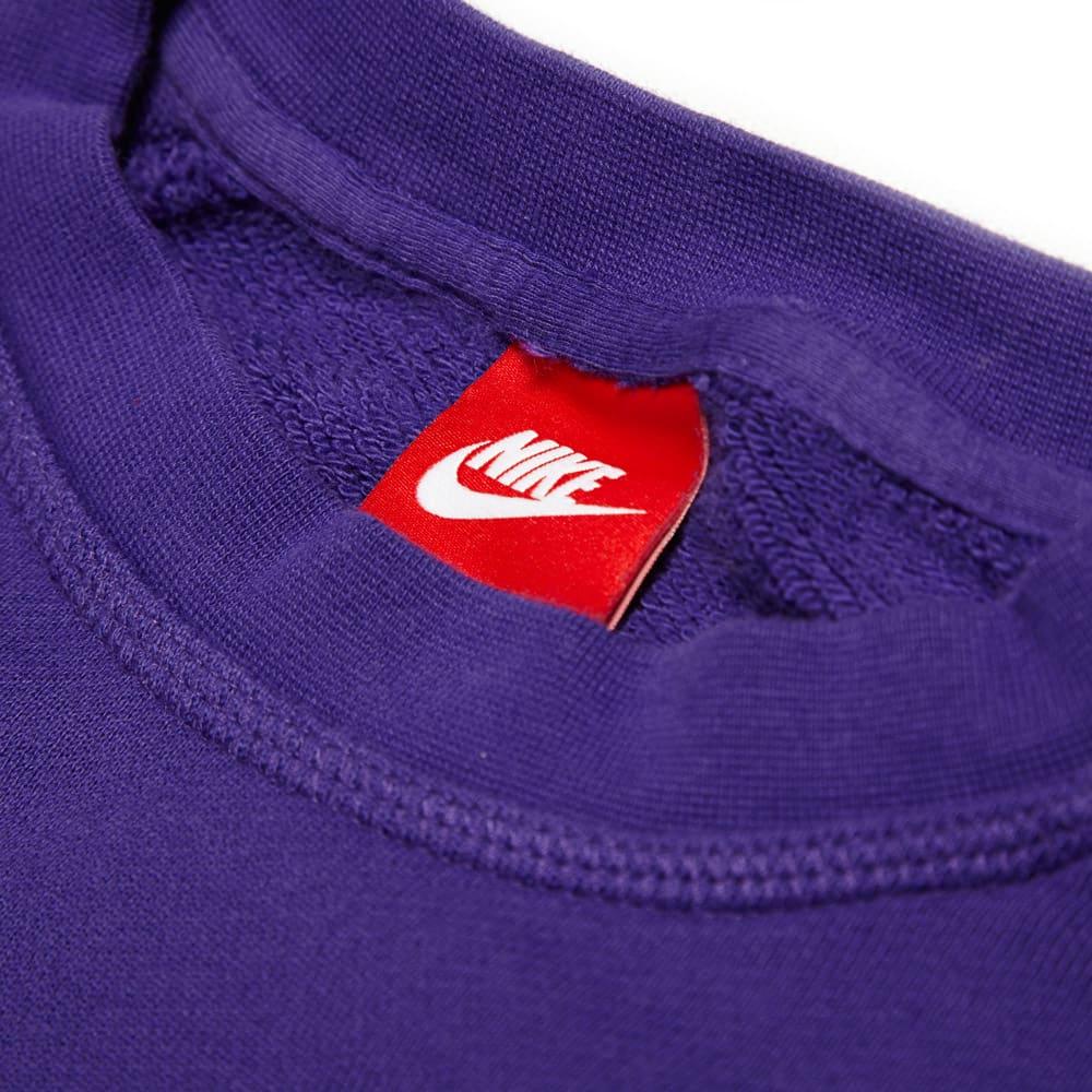 Nike Footwear AW77 Western Hemisphere Crew Sweatshirt Court Purple Green Glow