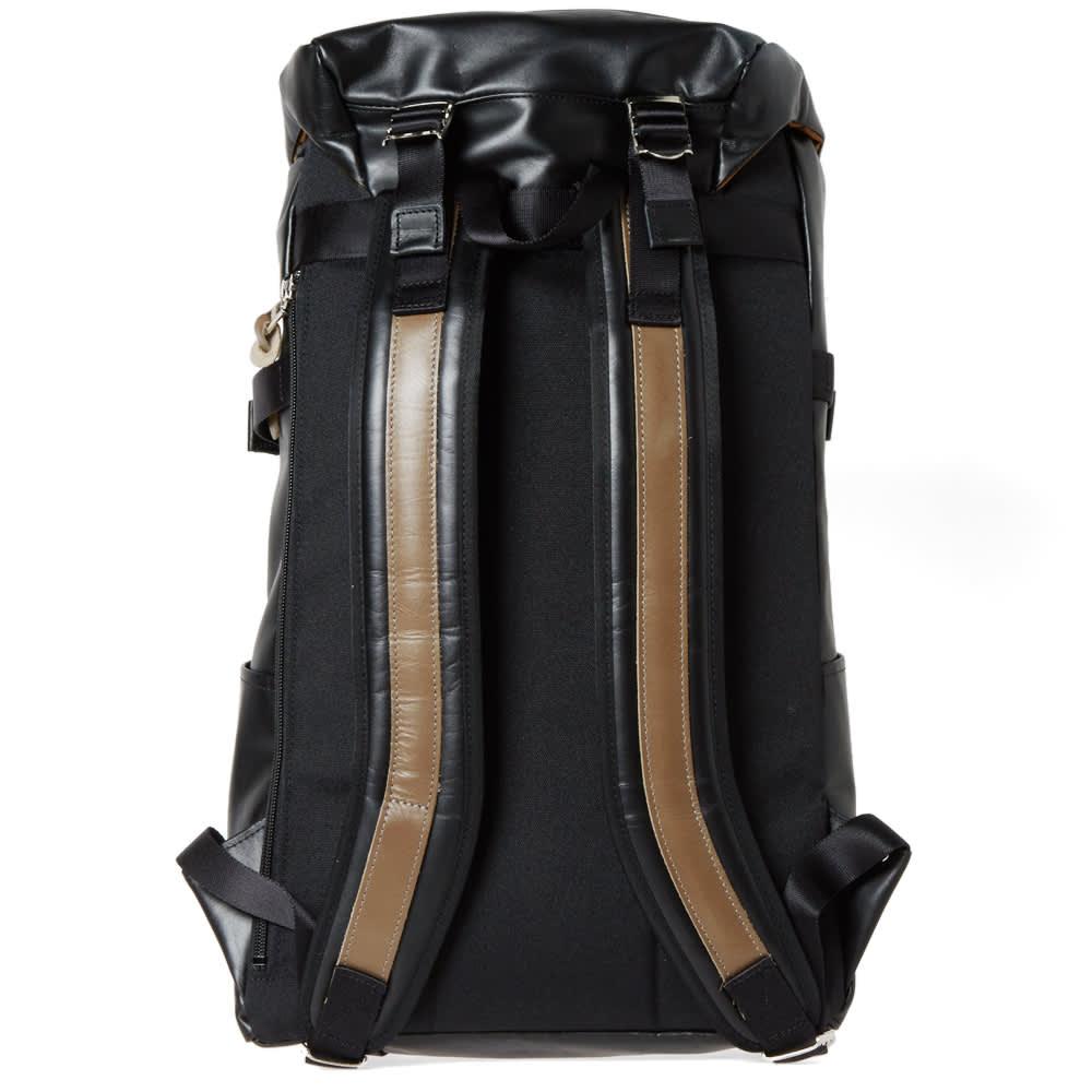 Master-Piece Leather Over Backpack - Black