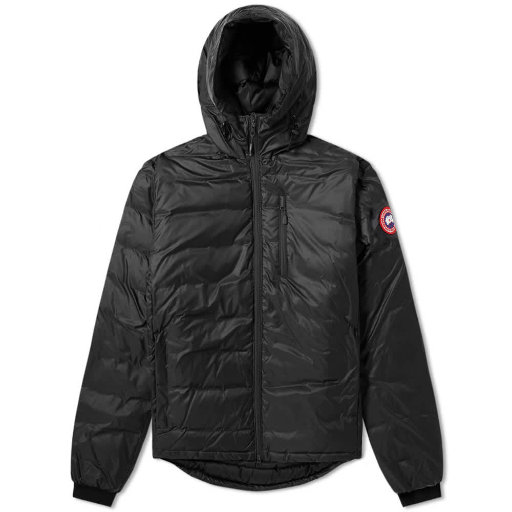 Canada Goose Lodge Fusion Fit Hooded Jacket - Black