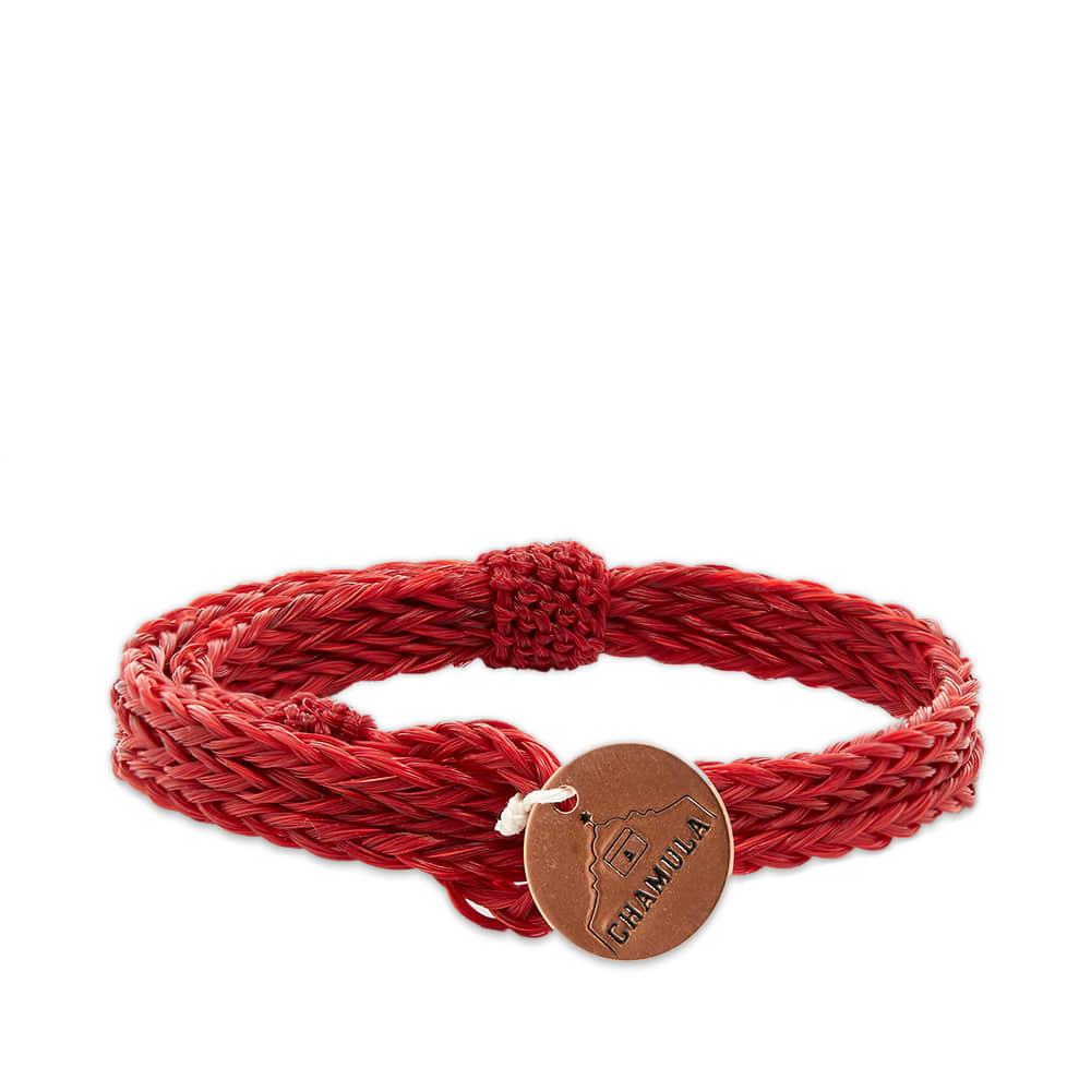 Chamula Braided Horsehair Bracelet - Red