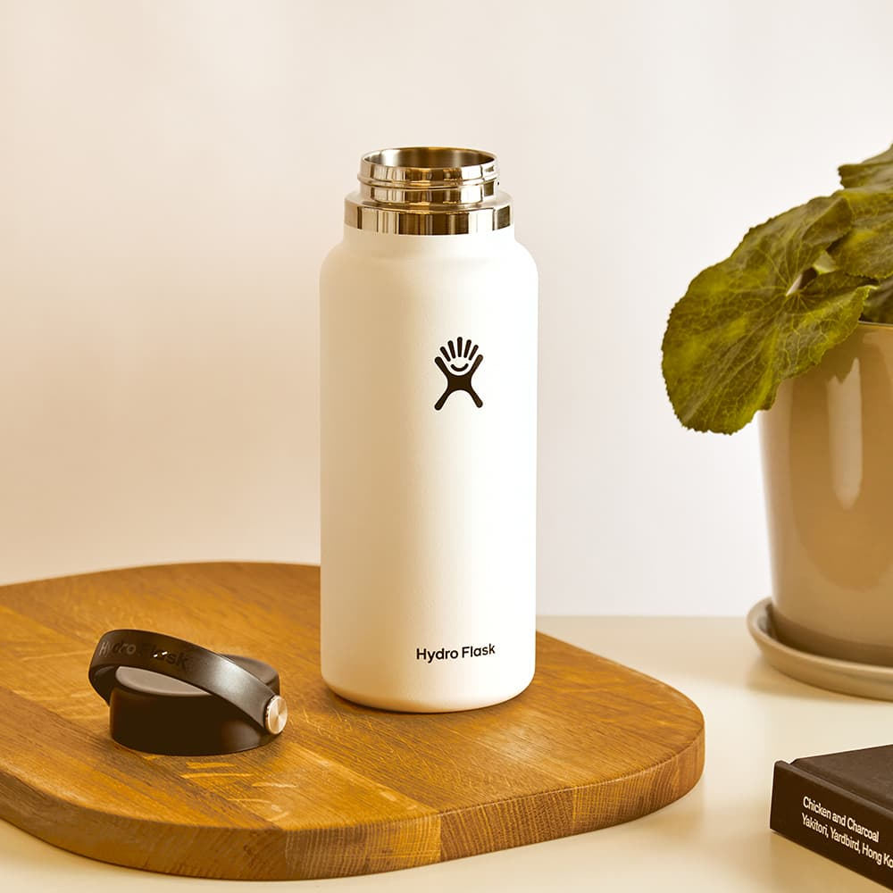 Hydroflask Wide Mouth Bottle - 32oz & White