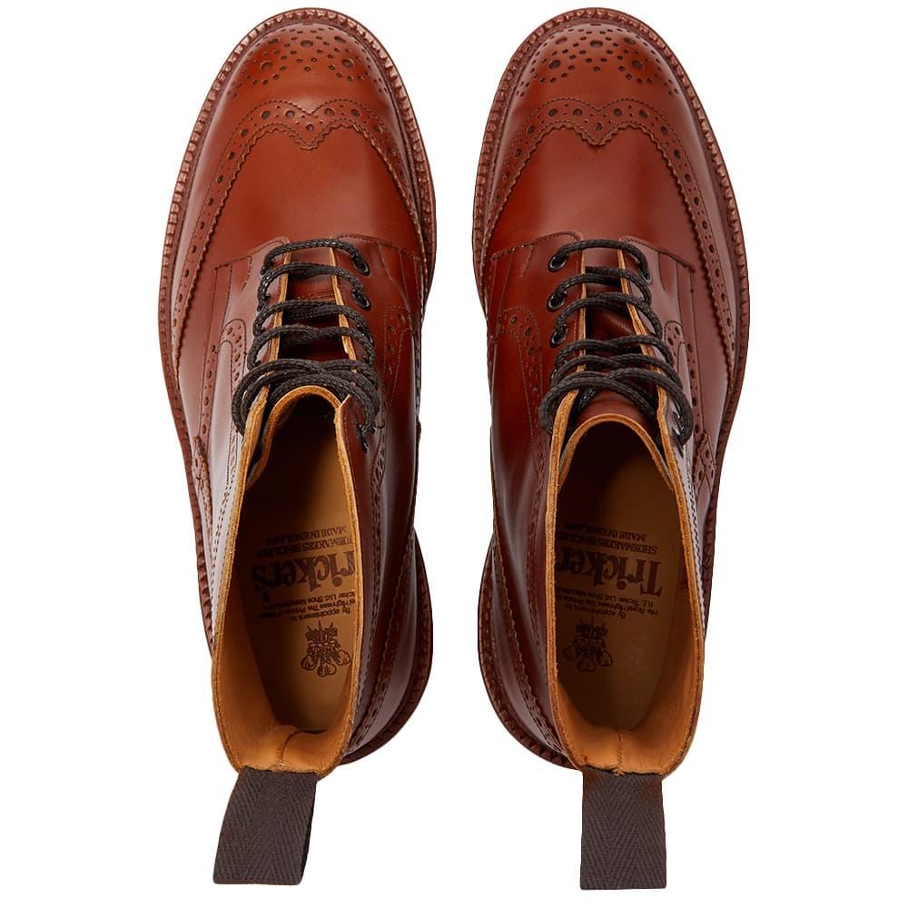 Tricker's Stow Brogue Derby Boot - Marron Antique