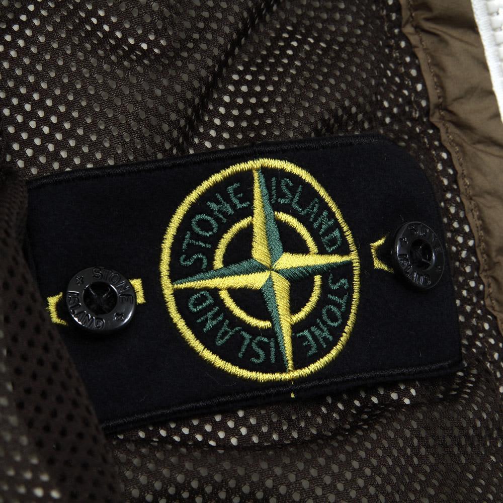 Stone Island Membrana Naval Hooded Jacket - Military Green