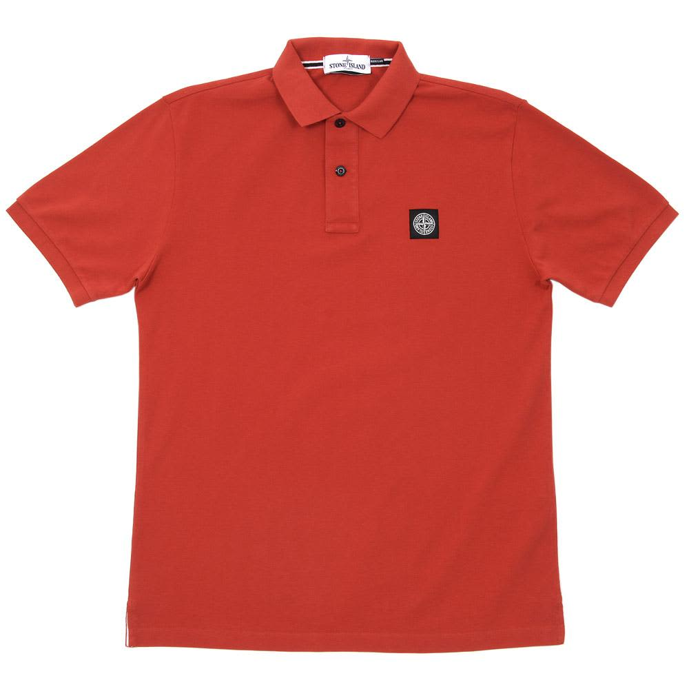 Stone Island Regular Fit Polo - Red