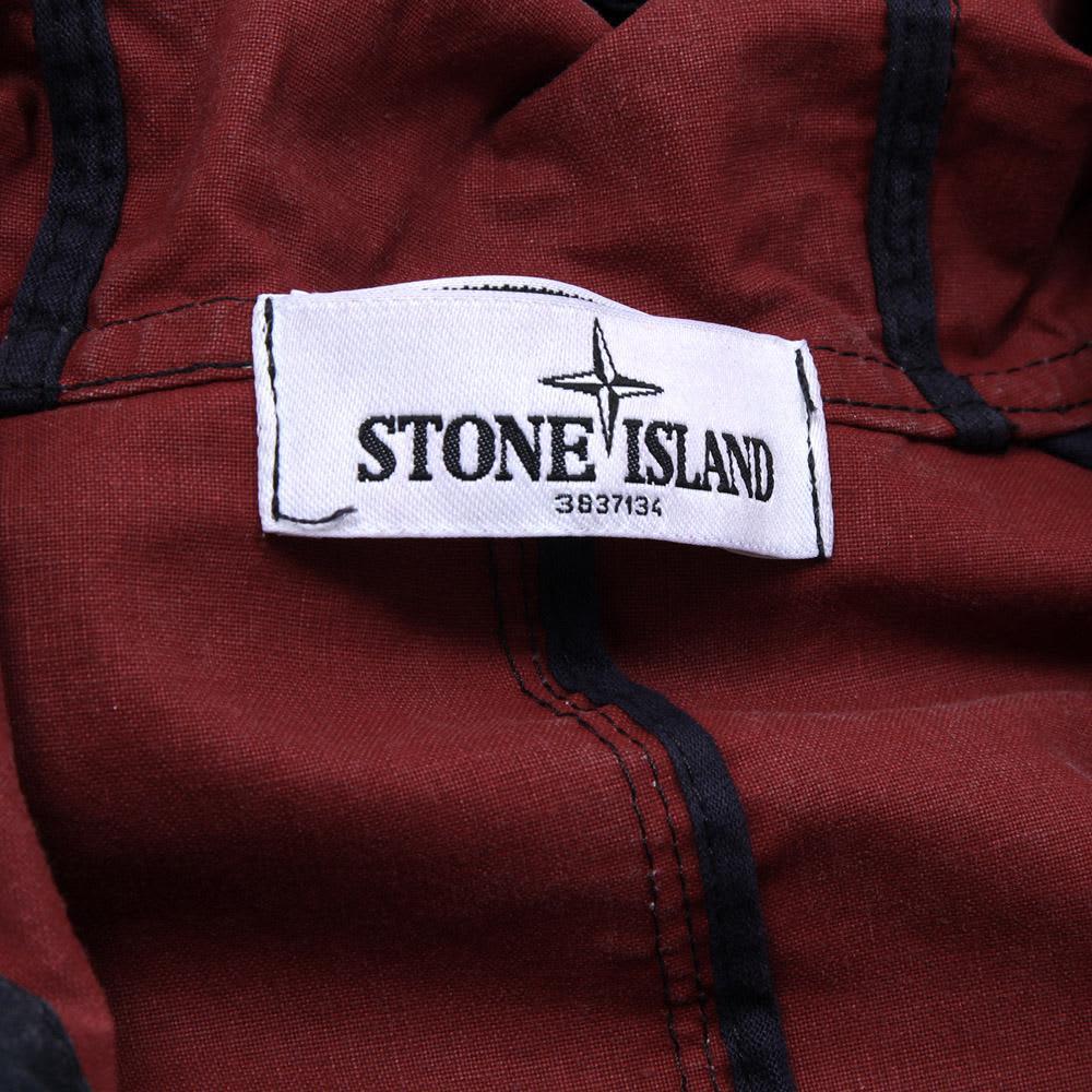 Stone Island Tela Stella Hooded Jacket - Bordeaux