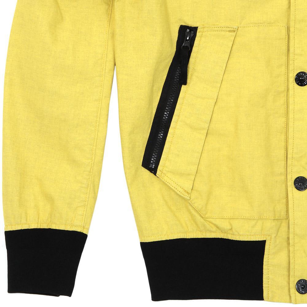 Stone Island Tela Stella Hooded Jacket - Yellow