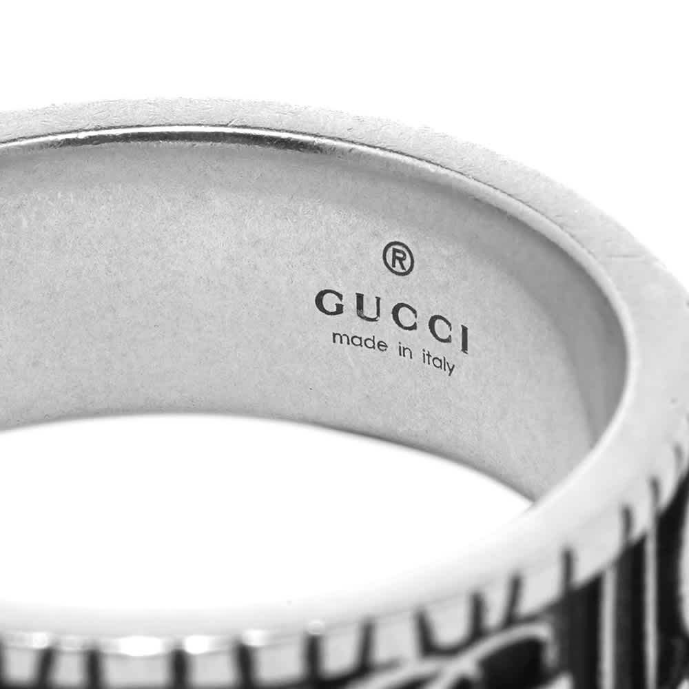 Gucci Double G Ring - Aged Sterling Silver