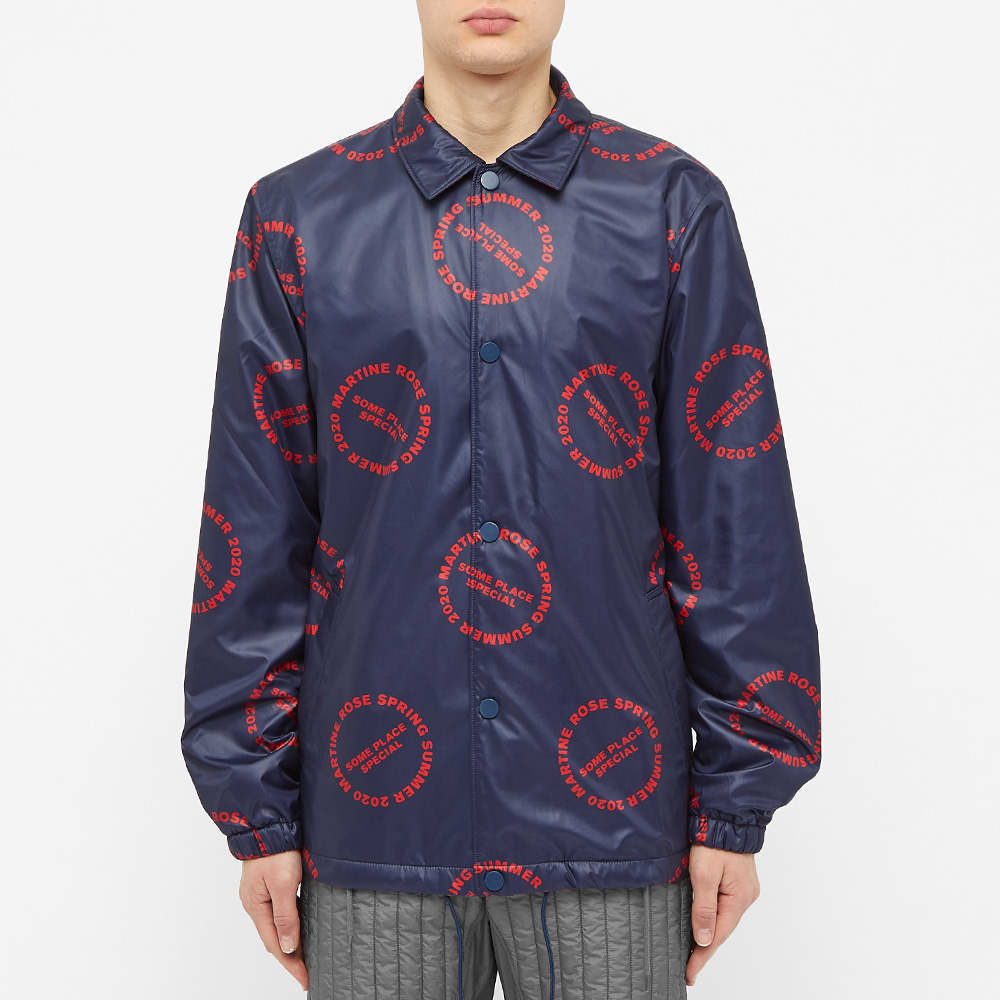 Martine Rose All Over Print Coach Jacket - Red
